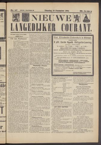 Nieuwe Langedijker Courant 1924-12-16