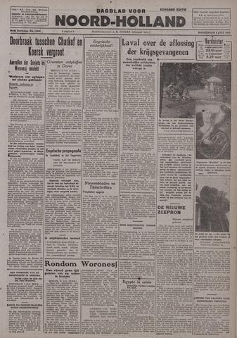 Dagblad Noord-Holland, Schager editie 1942-07-09