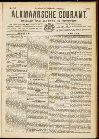 Alkmaarsche Courant 1907-03-05