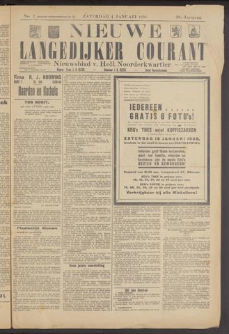 Nieuwe Langedijker Courant 1930-01-04