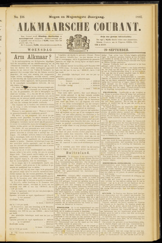 Alkmaarsche Courant 1897-09-29
