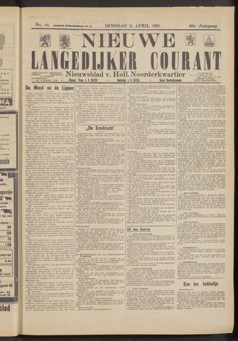 Nieuwe Langedijker Courant 1931-04-14