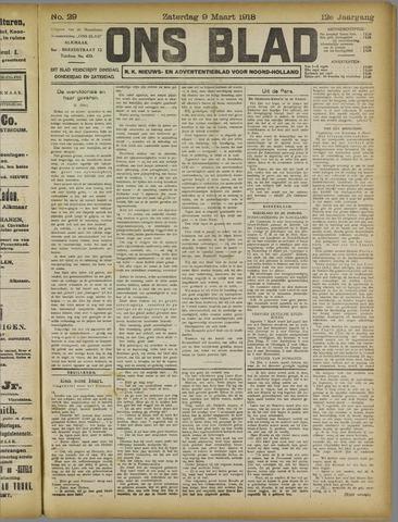 Ons Blad : katholiek nieuwsblad voor N-H 1918-03-09