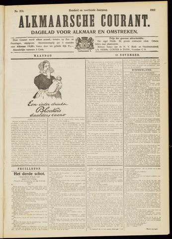 Alkmaarsche Courant 1912-11-18