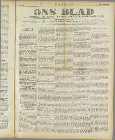 Ons Blad : katholiek nieuwsblad voor N-H 1920-03-09