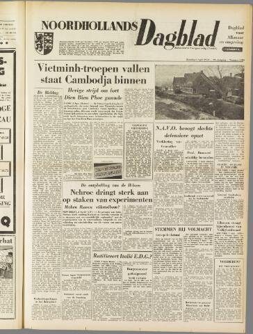 Noordhollands Dagblad : dagblad voor Alkmaar en omgeving 1954-04-03