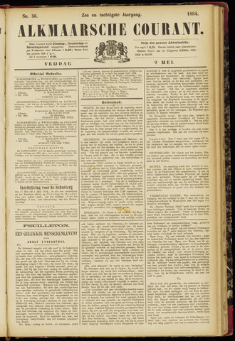 Alkmaarsche Courant 1884-05-09