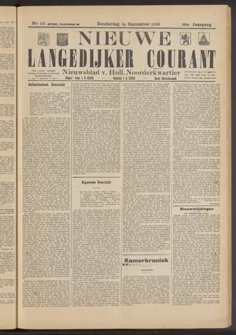 Nieuwe Langedijker Courant 1929-09-19