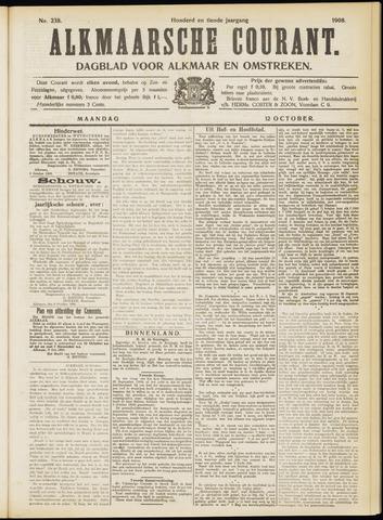 Alkmaarsche Courant 1908-10-12