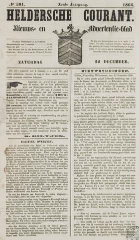 Heldersche Courant 1866-12-22