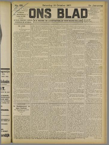 Ons Blad : katholiek nieuwsblad voor N-H 1917-10-13