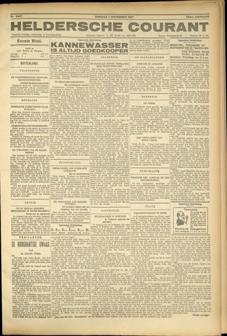 Heldersche Courant 1927-11-01