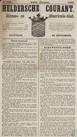 Heldersche Courant 1868-09-26