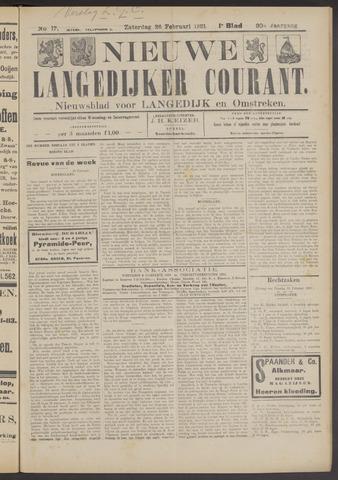 Nieuwe Langedijker Courant 1921-02-26