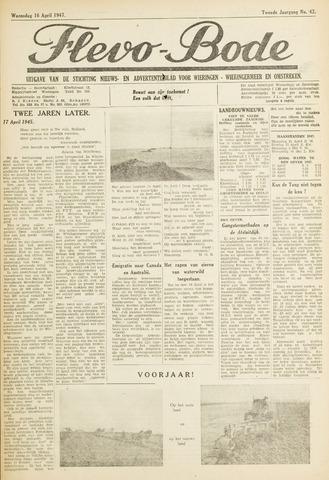 Flevo-bode: nieuwsblad voor Wieringen-Wieringermeer 1947-04-16