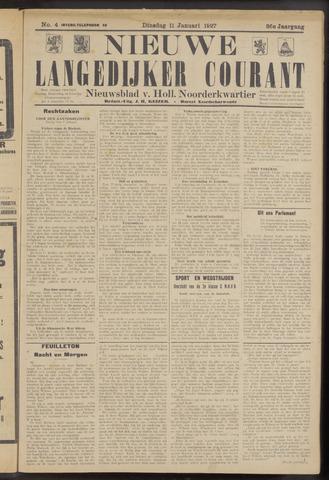 Nieuwe Langedijker Courant 1927-01-11