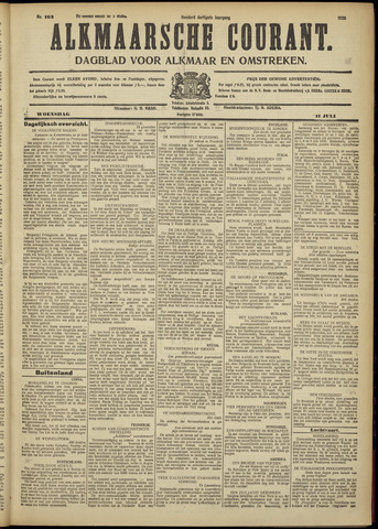Alkmaarsche Courant 1928-07-11