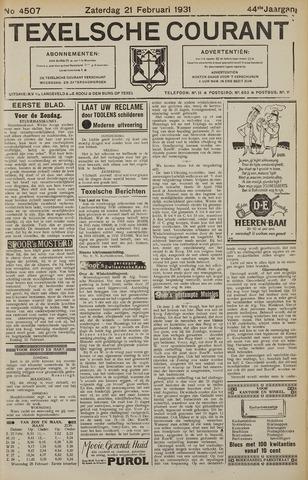 Texelsche Courant 1931-02-21