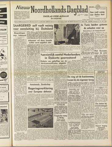Nieuw Noordhollandsch Dagblad : voor Alkmaar en omgeving 1952-02-05