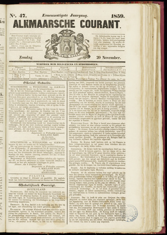 Alkmaarsche Courant 1859-11-20