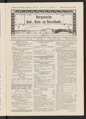 Bergensche bad-, duin- en boschbode 1938-08-20