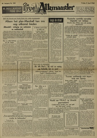 De Vrije Alkmaarder 1948-04-02