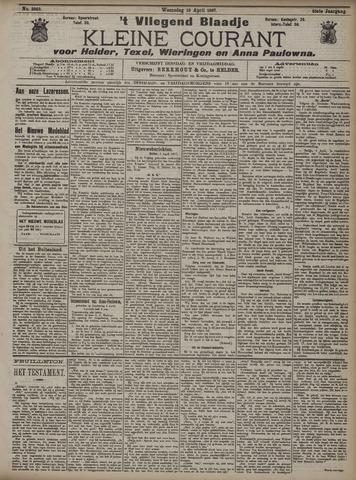 Vliegend blaadje : nieuws- en advertentiebode voor Den Helder 1907-04-10