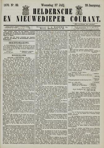 Heldersche en Nieuwedieper Courant 1870-07-27