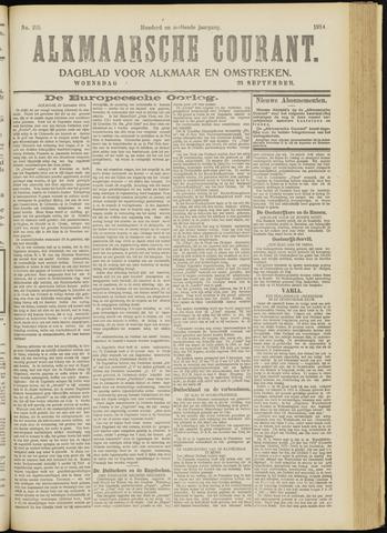 Alkmaarsche Courant 1914-09-23