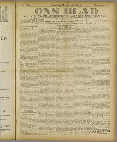 Ons Blad : katholiek nieuwsblad voor N-H 1919-08-11