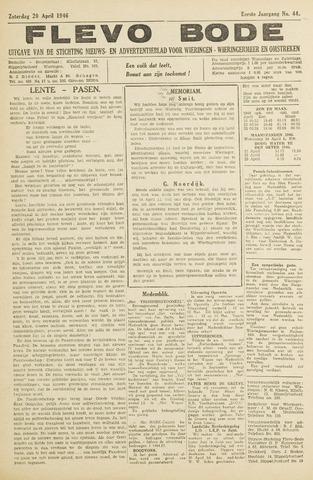 Flevo-bode: nieuwsblad voor Wieringen-Wieringermeer 1946-04-20