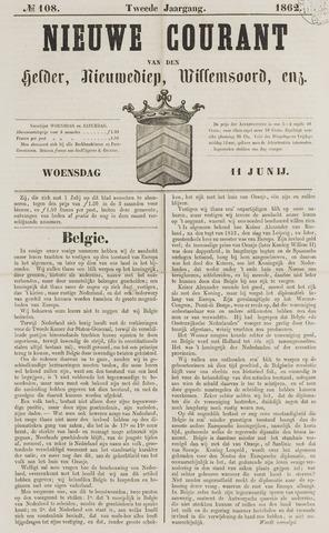 Nieuwe Courant van Den Helder 1862-06-11