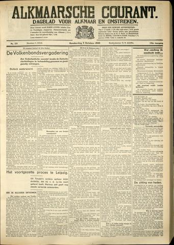 Alkmaarsche Courant 1933-10-05