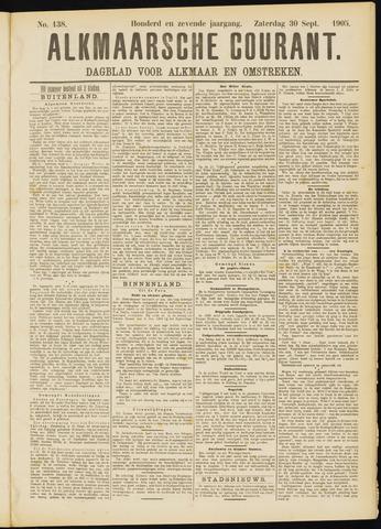 Alkmaarsche Courant 1905-09-30