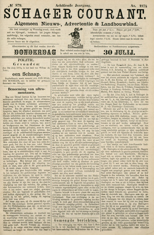 Schager Courant 1874-07-30