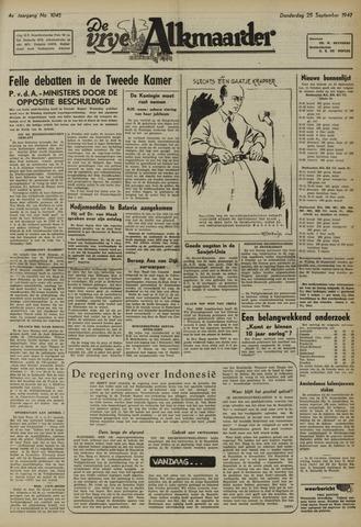 De Vrije Alkmaarder 1947-09-25