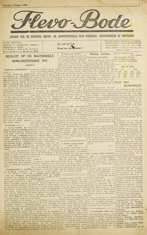 Flevo-bode: nieuwsblad voor Wieringen-Wieringermeer 1946-01-05