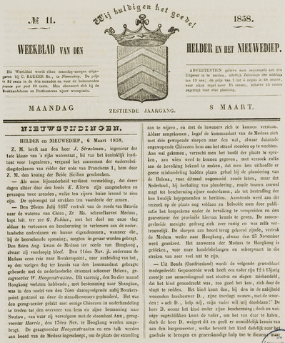 Weekblad van Den Helder en het Nieuwediep 1858-03-08