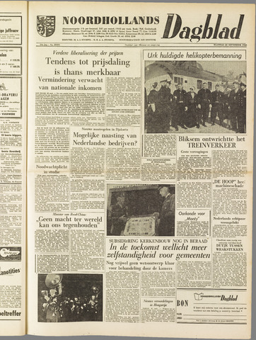 Noordhollands Dagblad : dagblad voor Alkmaar en omgeving 1958-09-22