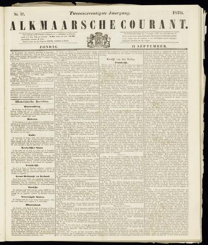 Alkmaarsche Courant 1870-09-11