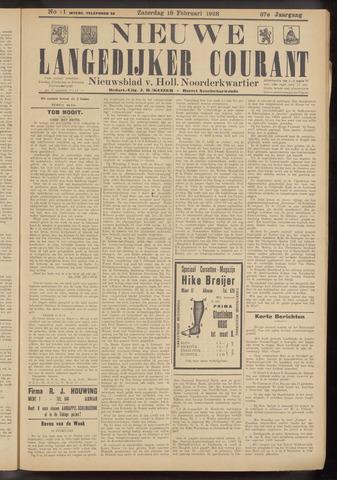 Nieuwe Langedijker Courant 1928-02-18