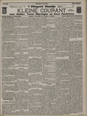 Vliegend blaadje : nieuws- en advertentiebode voor Den Helder 1910-06-08