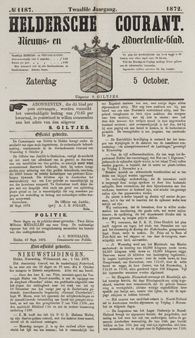 Heldersche Courant 1872-10-05