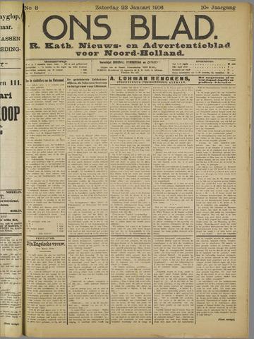 Ons Blad : katholiek nieuwsblad voor N-H 1916-01-22