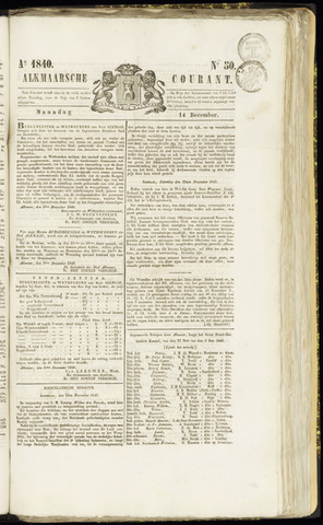 Alkmaarsche Courant 1840-12-14