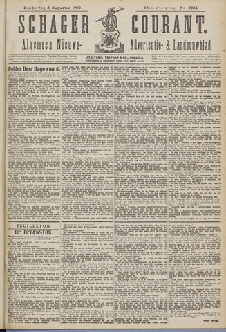 Schager Courant 1920-08-05