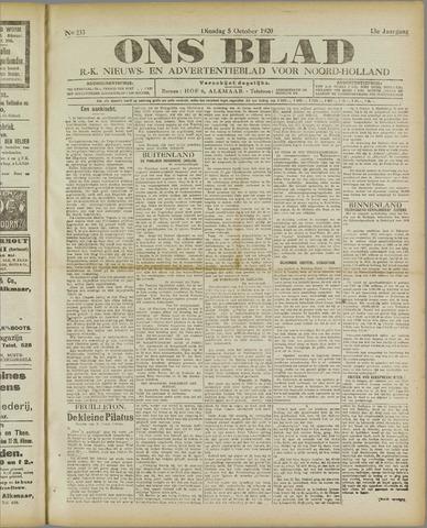 Ons Blad : katholiek nieuwsblad voor N-H 1920-10-05