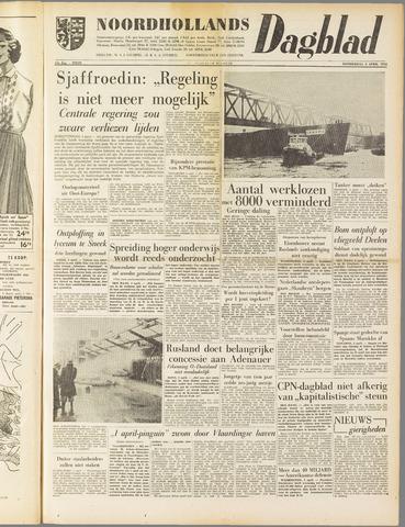 Noordhollands Dagblad : dagblad voor Alkmaar en omgeving 1958-04-03