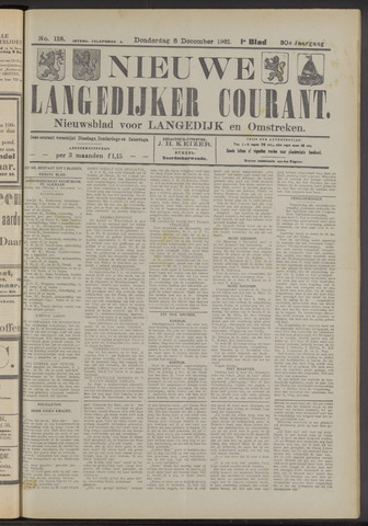 Nieuwe Langedijker Courant 1921-12-08