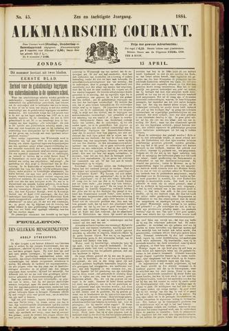 Alkmaarsche Courant 1884-04-13